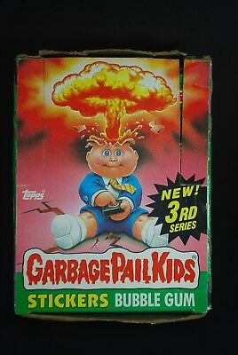 Vtg 1986 Topps Garbage Pail Kids Cards 3rd Series Wax Box 37 Unopened Packs Lot