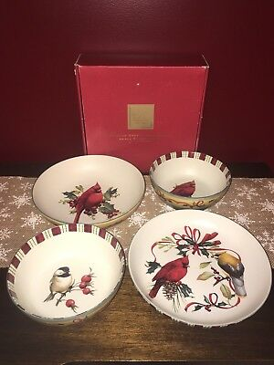 Lenox Winter Greetings Everyday Lot Serving Bowl Pasta Bowl 2 All Purpose Cereal