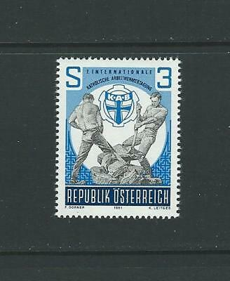1981 AUSTRIA International Catholic Workers Day (Scott 1195) MNH