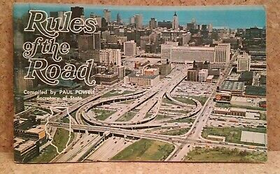 Vintage Rules of the Road booklet Illinois 1967 driving instruction