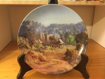 Chris Huber Bendigo Pottery heritage towns collector plate, Hill End