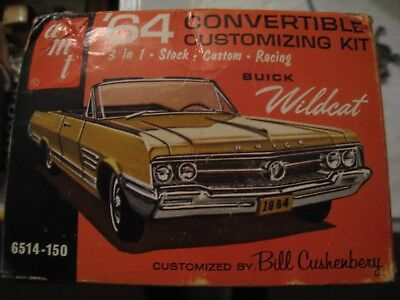 Rare Collector 1st Orig Issue 1964 Buick WILDCAT 3in1 Model/Kit 6514 AMT USA!