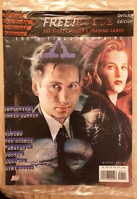 X-Files magazine Mint (UNOPENED) Winter 1996 #1 With Poster And Trading Card.