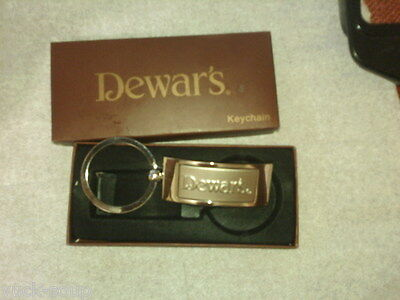 GIFT boxed Dewar's Stainless Keyring Key Chain NEW n BOX Collectible