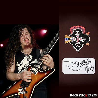 Dimebag Darrell Dean ML guitar stickers Pantera decal kiss band +vinyl autograph