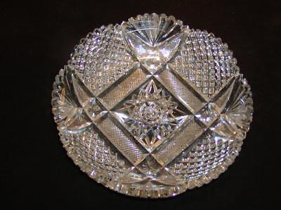 "Antique c1890s AMERICAN BRILLIANT CUT CRYSTAL BOWL, 9"", Superb Condition, NR!"