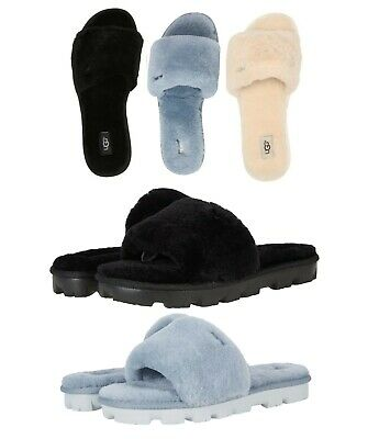 7386212cce UGG Soft Cozette Slide Slippers Women s Cozy Shoes Black Oyester Pink  Natural