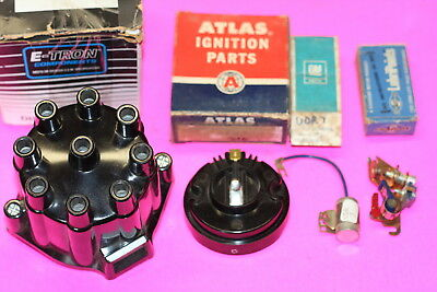1956 Cadillac Ignition Distributor Points Rotor Cap Tune Up Kit Switch