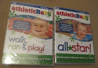 Toddler Kids DVD Athletic Baby All Star Activity Exercise Walk Run & Play x2