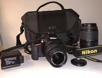 Nikon D5500 Body w/ 18-55 lens and 55-300mm VR lens with more