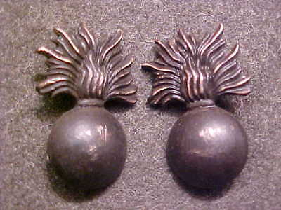 Rare Matching Pair Of Ww1 Bronze Us Army Ordnance Officer Collar Insignia