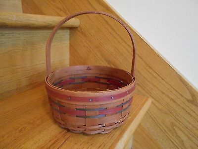 Longaberger All American Stitching Basket patriotic round cute *free shipping!*