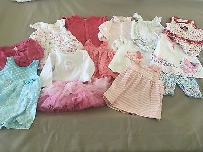 Girls Bulk Clothing 3-6 Months Size 00 Great Summer Collection Includes Minnie