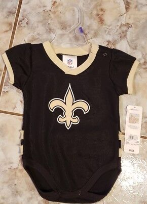 3cdabe33 NFL INFANTS NEW Orleans Saints Football Bodysuit, Brown - $9.99 ...