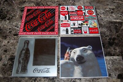 4 Coca Cola Coaster / Tile