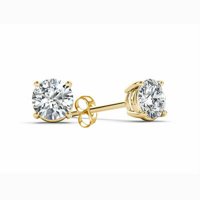 IGI CERTIFIED 5/8 Cttw Diamond Studs Available In 14K White or Yellow Gold