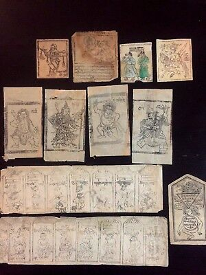 Antique Buddhist Amulets (11 items) Demons, Spirits, Monsters