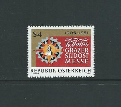 1981 AUSTRIA 75th Anniversary South-East Fair (Scott 1189) MNH