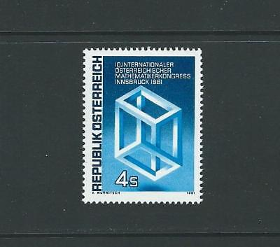 1981 AUSTRIA Eschers Impossible Cube (Scott 1187) MNH