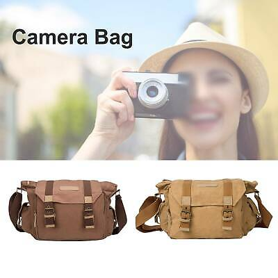 Canvas Vintage Waterproof Shoulder Messenge Camera Bag for Canon Nikon Sony DSLR