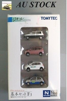 TOMYTEC N Scale 1/150 The Car Collection Basic Set F1, for model railway/diorama