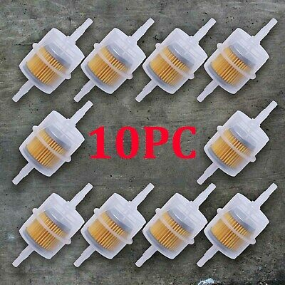 10 x Universal Petrol Inline Fuel Filter Large Car Part Fit 6mm 8mm Pipes UK