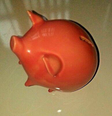 Piggy Bank Vintage Cute Ceramic Pig Bank with Coin Stopper Great Condition