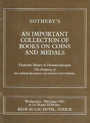 Sothebys June 1982 An Important Collection of Books on Coins and Medals