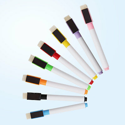 8 Shaped Magnetic Colour set white board marker pen dry wipe markers easy wipe