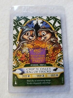 Chip & Dale Disney Sorcerers of the Magic Kingdom Halloween Party Card P1 MNSSHP