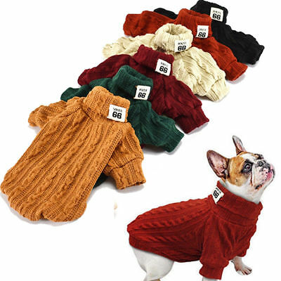 Hand Knit Dog Sweaters Neck Clothing Chihuahua Clothes Apparel for Small Dog Pet