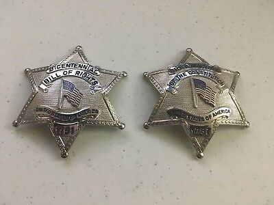 Bicentennial of the Constitution / Bill of Rights Commemorative Police Badge