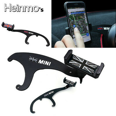 360° Car Mobile Phone Mount Cradle Holder Stand For Mini Cooper F54 F55 F56 Grey