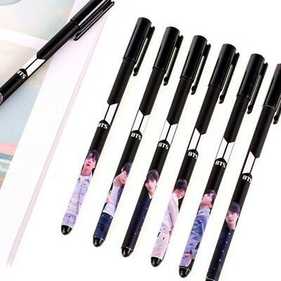 KPOP BTS Bangtan Boys LOVE YOURSELF Gel Ink Pen Office School Stationery Gift