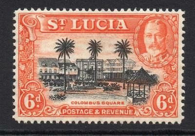 St Lucia 6d Stamp c1936 Mounted Mint (962)