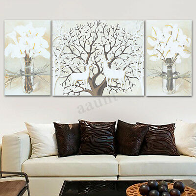 3Pcs Deer Modern Canvas Print Painting Wall Art Picture Home Decoration Unframed