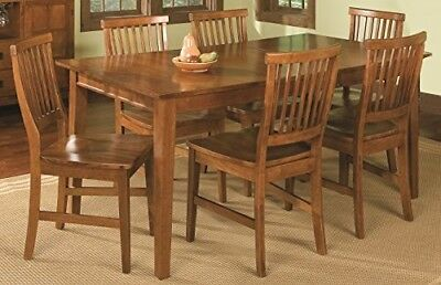 Home Style Arts and Crafts 7-Piece Rectangular Dining Set, Cottage Oak Finish