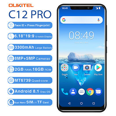 """Oukitel C12 Pro 4g Smartphone 6.18 """" Android 8.1 Face Id 2gb 16go"""