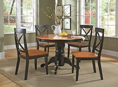 Home Styles 5-Piece Dining Set, Black and Cottage Oak Finish