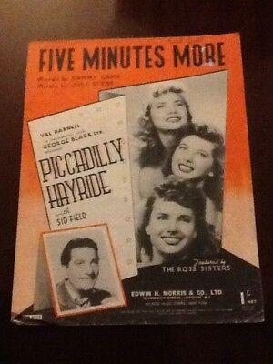 The Ross Sisters - Five Minutes More sheet music (Piccadilly Hayride) Sammy Cahn