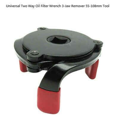 "Universal Two Way Oil Filter Wrench Tool 3-Jaw Remover Tool 55-108mm 3/8"" GL"