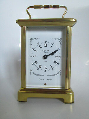Vintage Bayard, Duverdrey E Bloquel Carriage Clock, 8 Day Nos