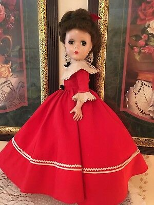 "Vintage Madame Alexander Doll 14"" Little Women JO 1950s Maggie Face"