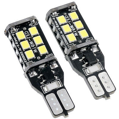 2Pcs/Set DC 12V Car CANBUS W16W T15 15SMD 2835 LED Backup Reverse Light Lamp New