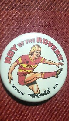 Roy of the Rovers vintage badge. Football.
