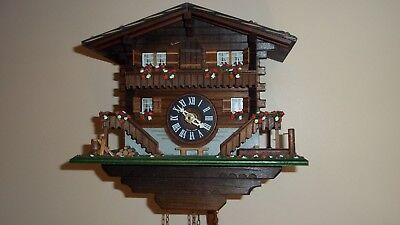 Cuckoo Clock R Lotscher Switzerland Boxed Fully Working Stored Piece Beautiful
