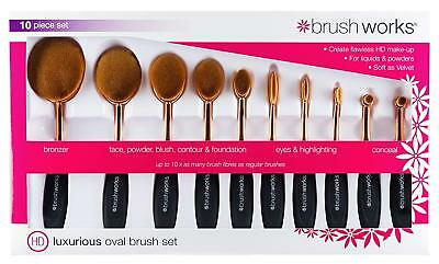 BRUSHWORKS Hd Luxurious Oval Brush Set (10-teilig) NEU&OVP
