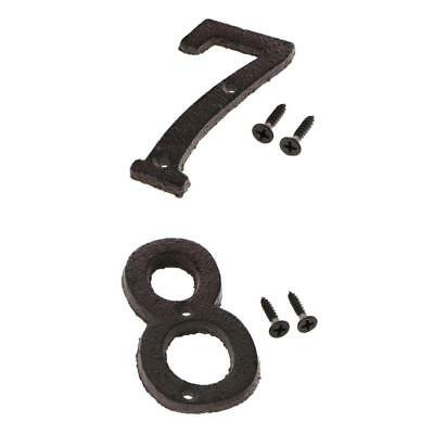 7 &8 Metal Cast Iron House Address Numbers Numerals for House Signs/Plaques