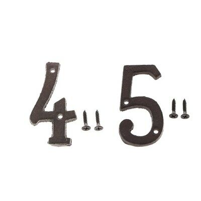 4 &5 Metal Cast Iron House Address Numbers Numerals for House Signs/Plaques