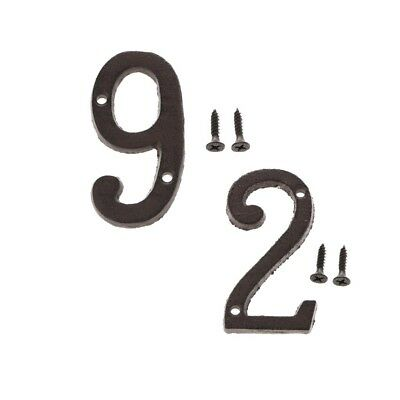 9 &2 Metal Cast Iron House Address Numbers Numerals for House Signs/Plaques